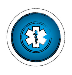 Caduceus medical symbol icon vector