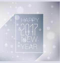 Minimal style happy new year 2017 background vector
