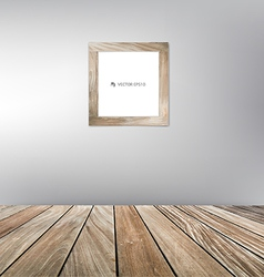 Wood frame floor vector image