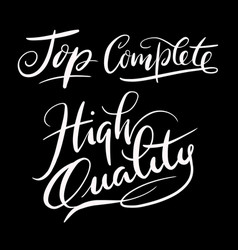 high quality hand written typography vector image