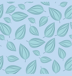 seamless pattern background with autumn leaves vector image