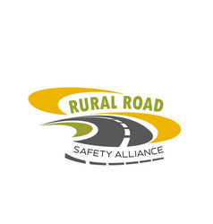 Icon of rural road for safety alliance vector