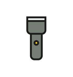 Flashlight icon on white background vector