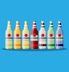 Bottle of carbonated drink or juice vector