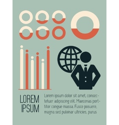Social Media Infographic vector image