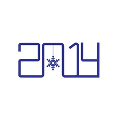 Creative design happy new year 2014 vector image