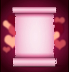 Scroll valentine background vector