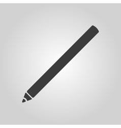 The pencil icon pen symbol flat vector