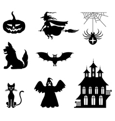 Hallowen set vector