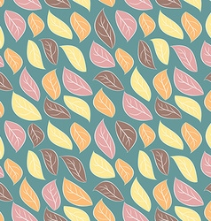 Seamless background of autumn foliage Pale leaves vector image