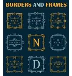 Set of luxury borders and frames vector