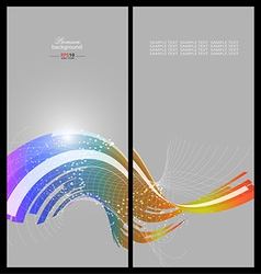 Abstract rainbow technology background template vector