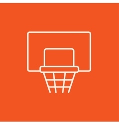 Basketball hoop line icon vector
