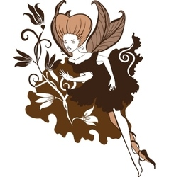 Chocolate fairy vector