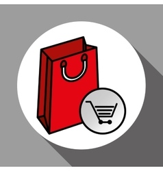 Shopping cart and bag design vector