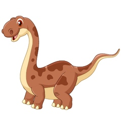 Adorable cute dinosaur vector image