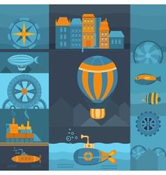 Background steampunk vector