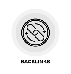 Backlinks line icon vector