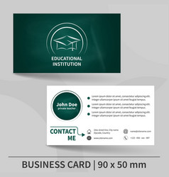 Business card template with blackboard texture vector