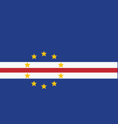 Cape verde flag for independence day and vector
