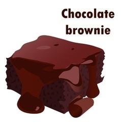 Chocolate brownie vector