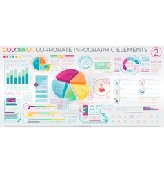 Colorful Corporate Infographic Elements vector image vector image