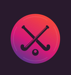 field hockey icon vector image