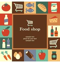 Food shop frame vector