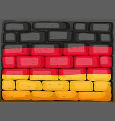 Germany flag on brickwall vector