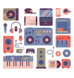 Hip hop or dj accessory musician instruments vector