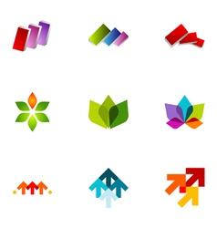 Logo design elements set 22 vector