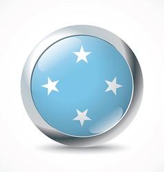 Micronesia flag button vector image
