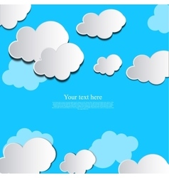 paper cloud design vector image vector image