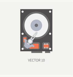Plain flat color computer part icon data vector