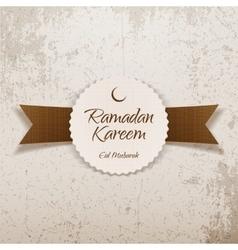 Ramadan kareem eid mubarak religious label vector
