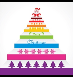 Stylish design and text for christmas celebration vector image