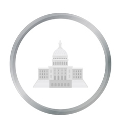 United states capitol icon in cartoon style vector