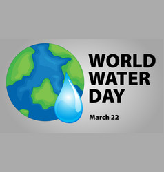 world water day poster design vector image vector image