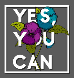 yes you can quote with pansy flower vector image