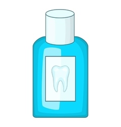 Mouthwash bottle icon cartoon style vector
