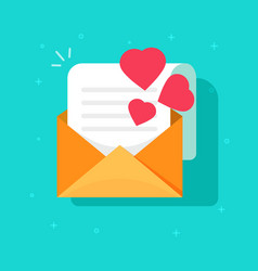 Love confession mail or email icon flat vector