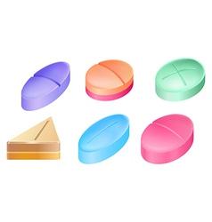 Medicinal pills vector