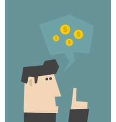 Businessman talking about money vector