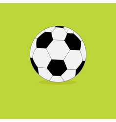 Football soccer ball icon on green grass back vector