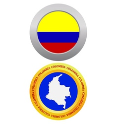 Button as a symbol colombia vector