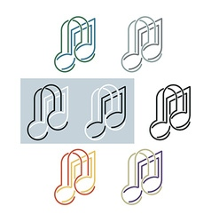 Musical note and headphones vector