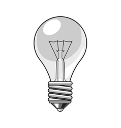 Lightbulb cartoon vector