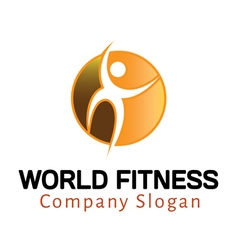 World fitness design vector
