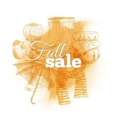 Vintage Fall sale vector image