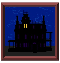 Creepy house vector